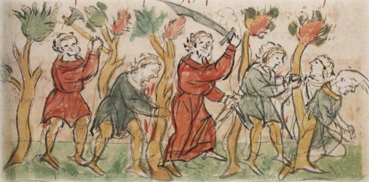 Восстание волхвов в Суздале (Иллюстрация из открытых источников)