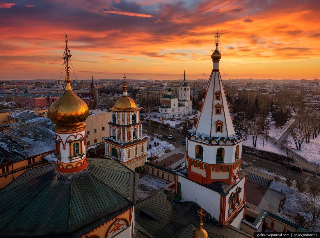 Иркутск с высоты – культурная столица Восточной Сибири (37 фото)