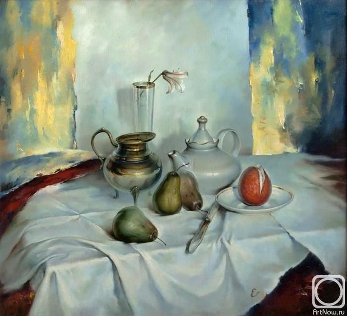 Igor-Egorov.-Natyurmort-s-apelsinom-i-grushami-2002 (700x635, 384Kb)