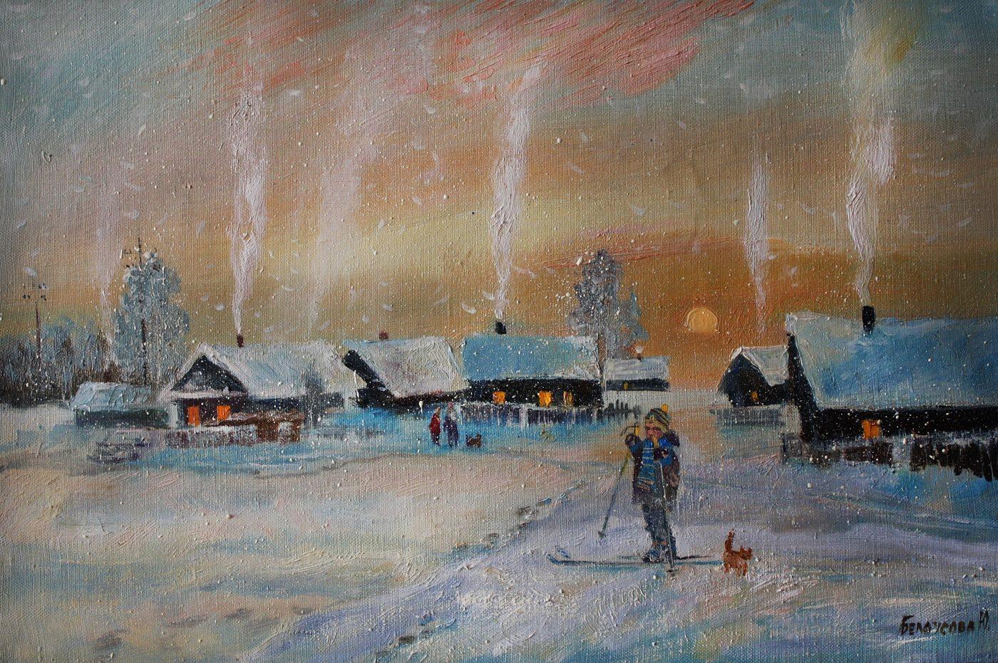 Художник Юлия Белоусова. Картины от которых тепло в душе.