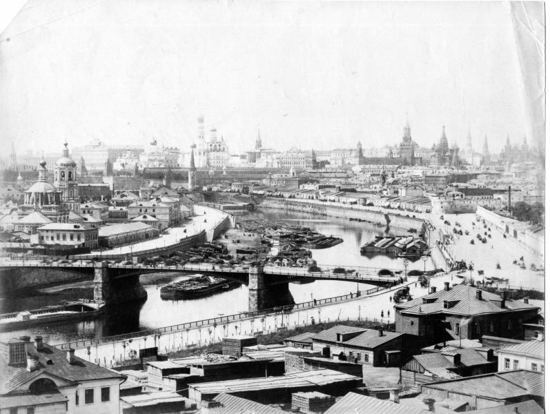 Кремлевская набережная. Панорама со Швивой горки Неизвестный автор, 1880-е, г. Москва, Кремлевская наб., МАММ/МДФ.
