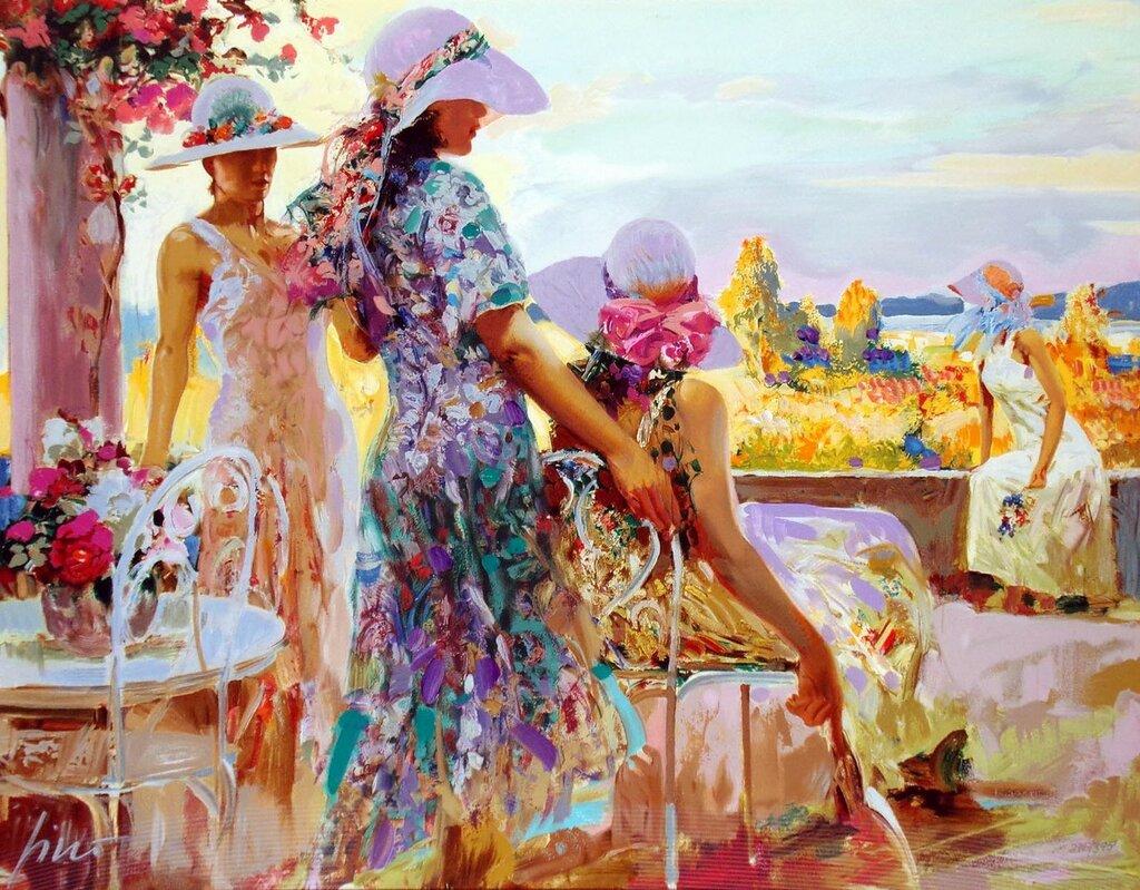 Живопись Pino Daeni. Прекрасные женщины и дети