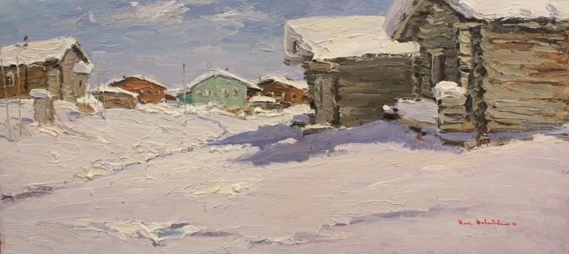 Художник Николай Давыдов лепит из красок холод