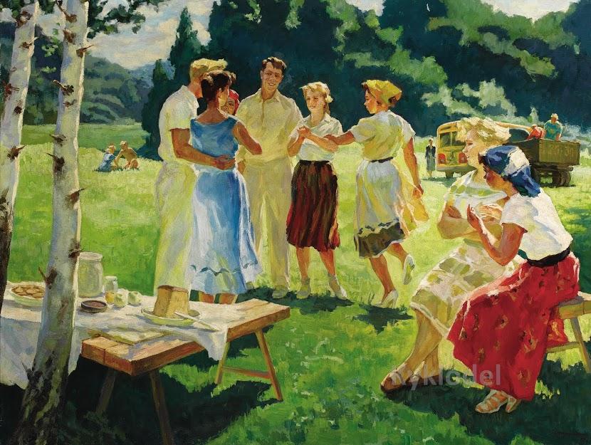 Мы рождены, чтоб сказку сделать былью! Советская деревня в картинах Асхата Сафаргалина