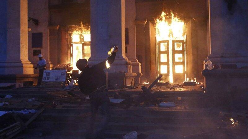 Как сжигали людей в одесском доме Профсоюзов
