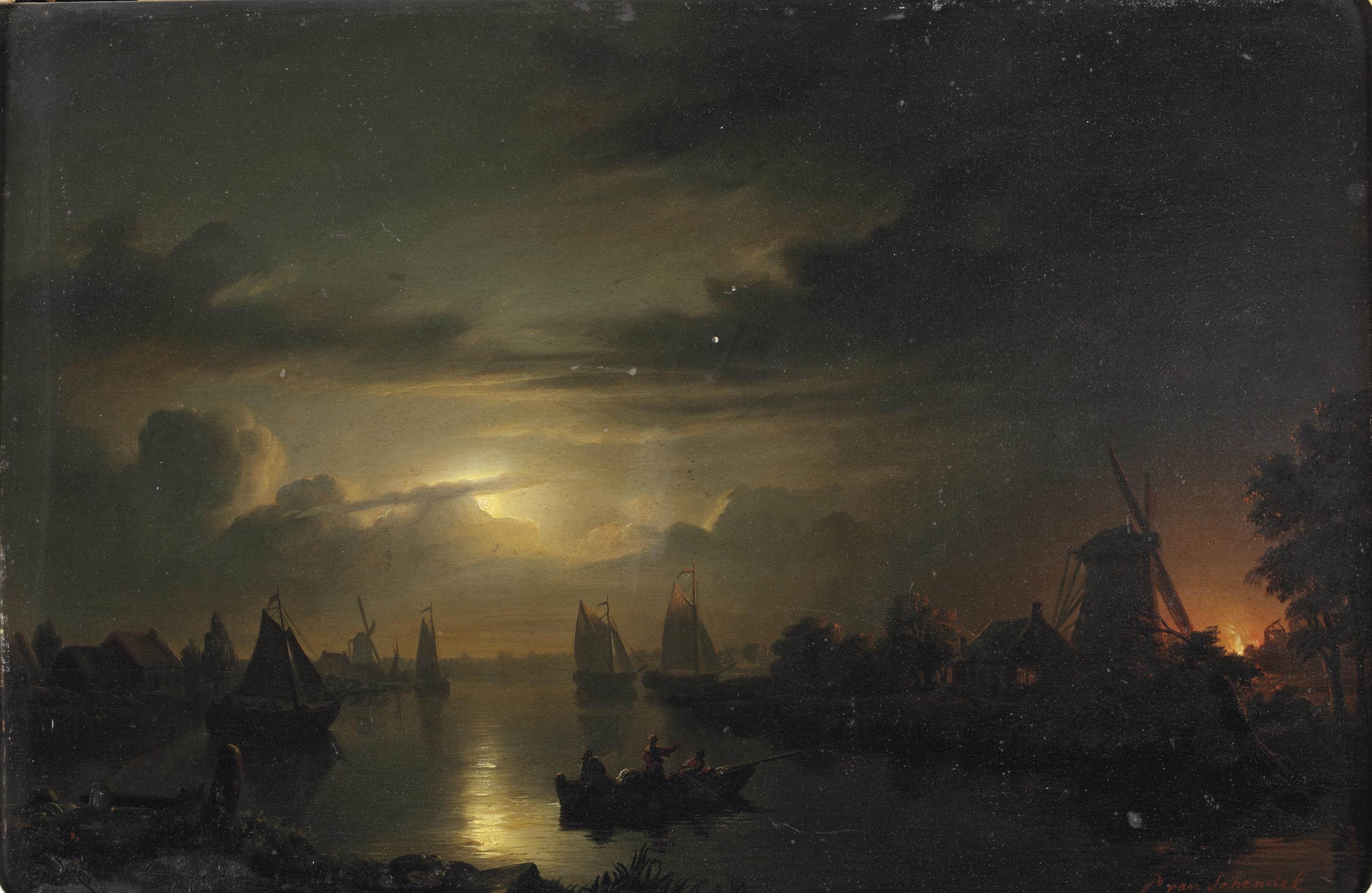 Художник Петрус Ван Шендель (Petrus van Schendel 1806–1870)