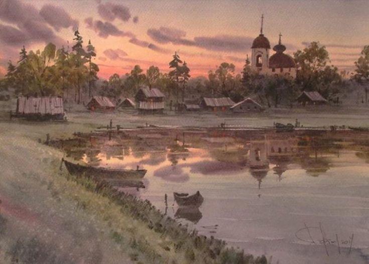 Акварельные пейзажи художника Ильи Горгоца