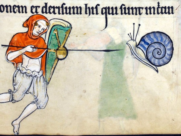 Почему на средневековых рисунках рыцари сражаются с улитками