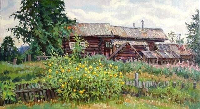 Художник Ленькова Юлия Вячеславовна. Деревенские мотивы