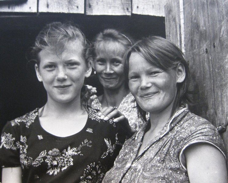 Оксана с тетками Таней и Галой Юрий Григорьев, 1980 год, МАММ/МДФ.