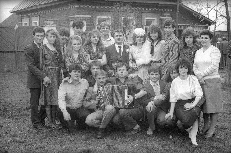 Свадьба Симакина Виктор Ершов, 1987 - 1989 год, Ивановская обл., МАММ/МДФ.