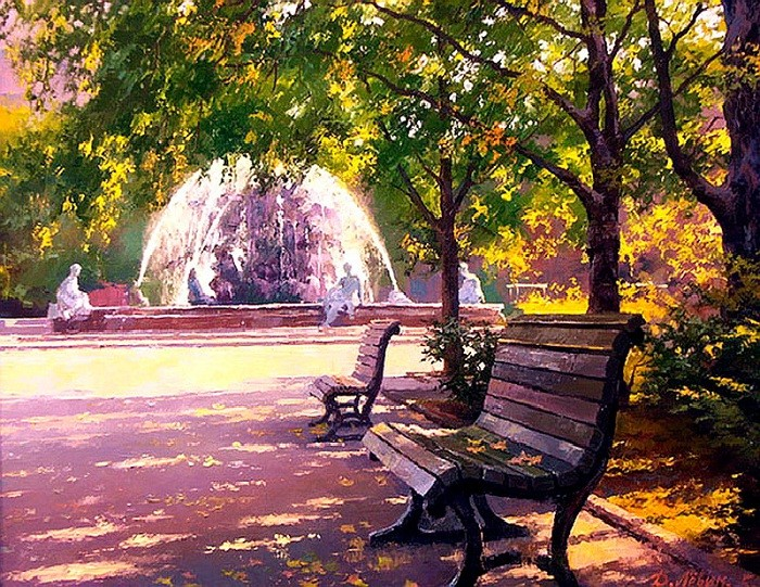 В парке. Автор: Дмитрий Левин.