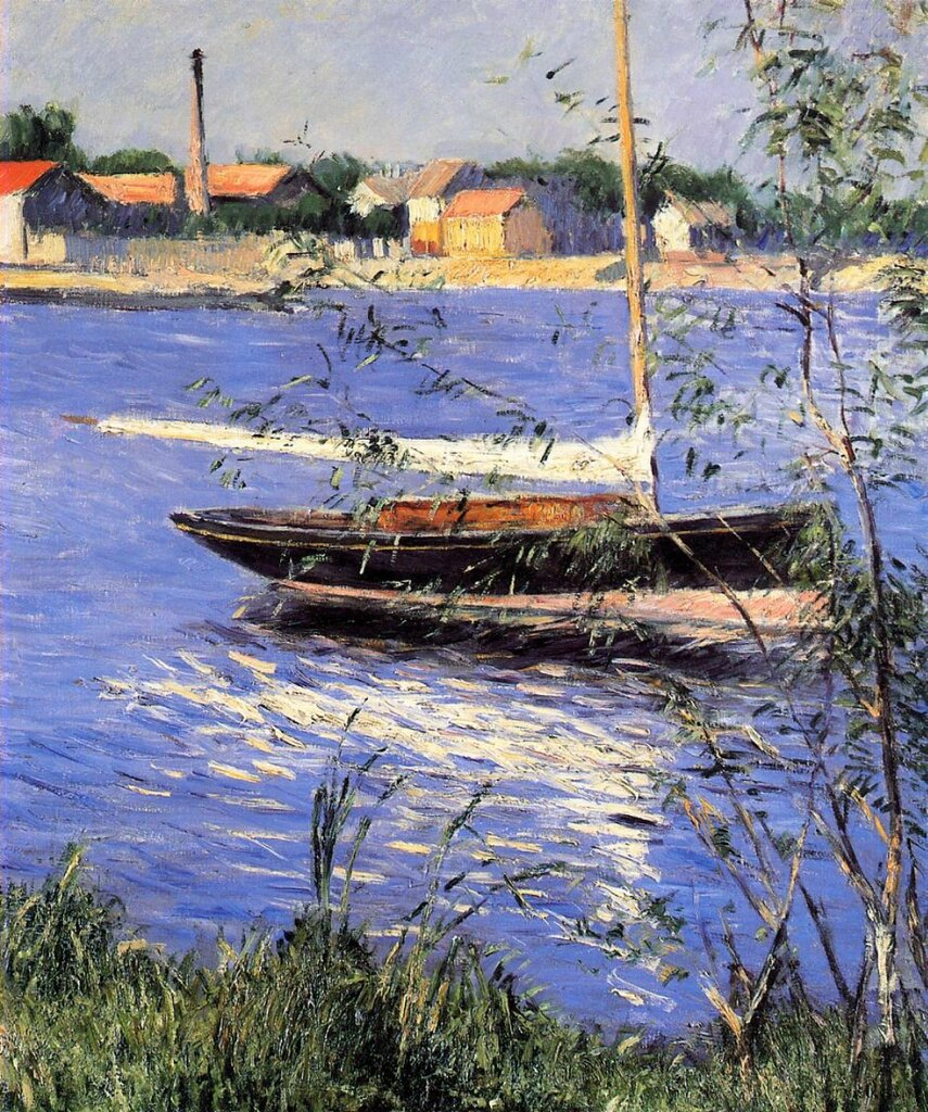 Anchored Boat on the Seine at Argenteuil - 1888 - Private collection - Painting - oil on canvas.jpg