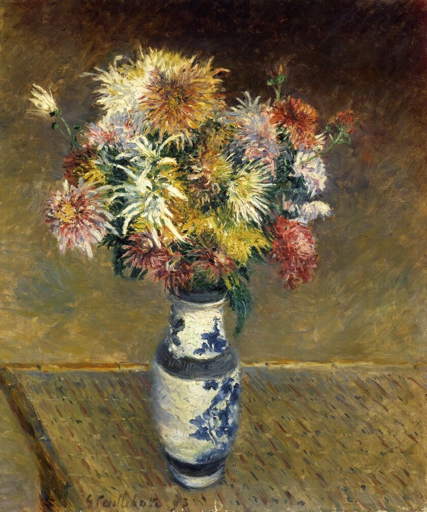 Chrysanthemums in a Vase  -  1893 - Private collection -  Painting - oil on canvas.jpg