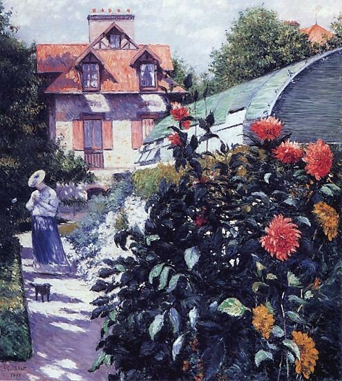 Dahlias  -  The Garden at Petit Gennevilliers  -  1893 - Private collection -  Painting - oil on canvas.jpg