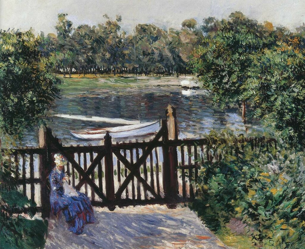 Entrance to the garden at Petit Gennevilliers - 1884 - Private collection - Painting - oil on canvas.jpeg