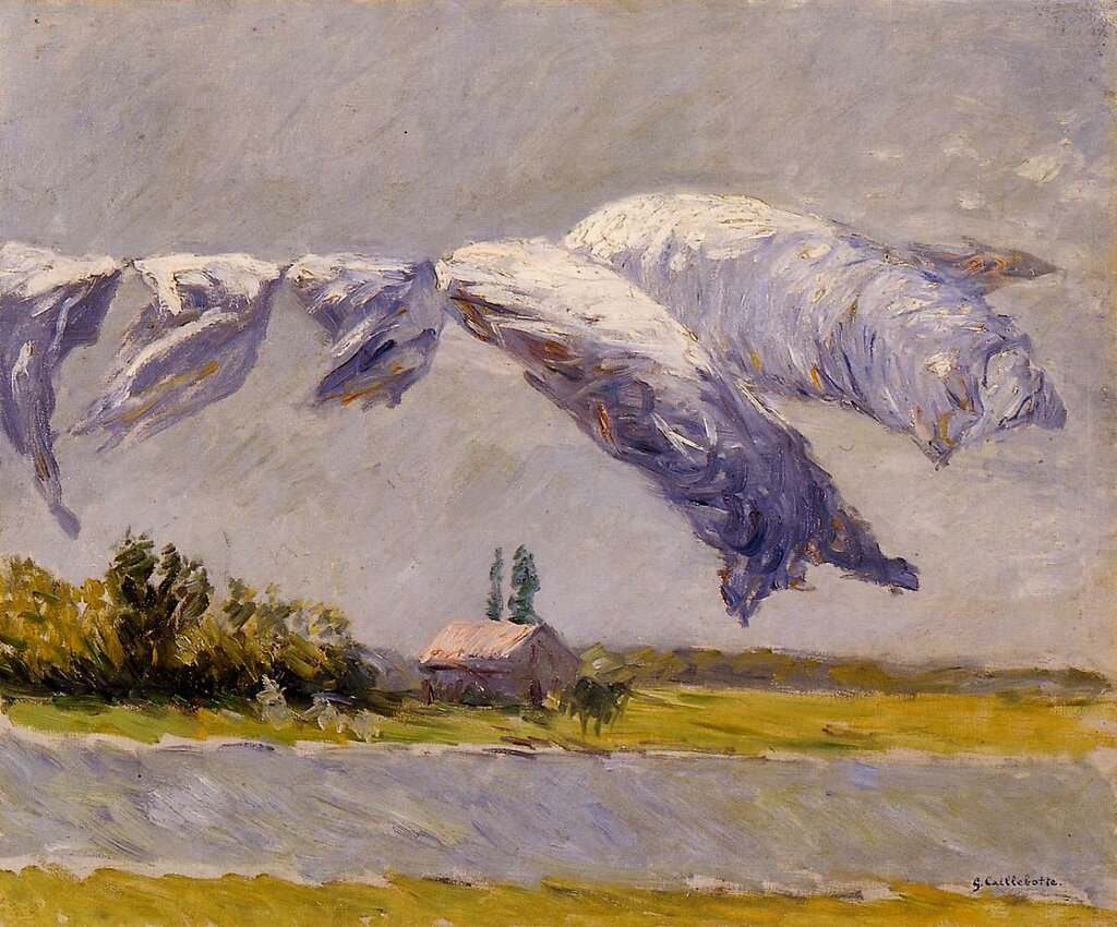 Laundry Drying, Petit Gennevilliers  -  1892 - Private collection - Painting - oil on canvas.jpg
