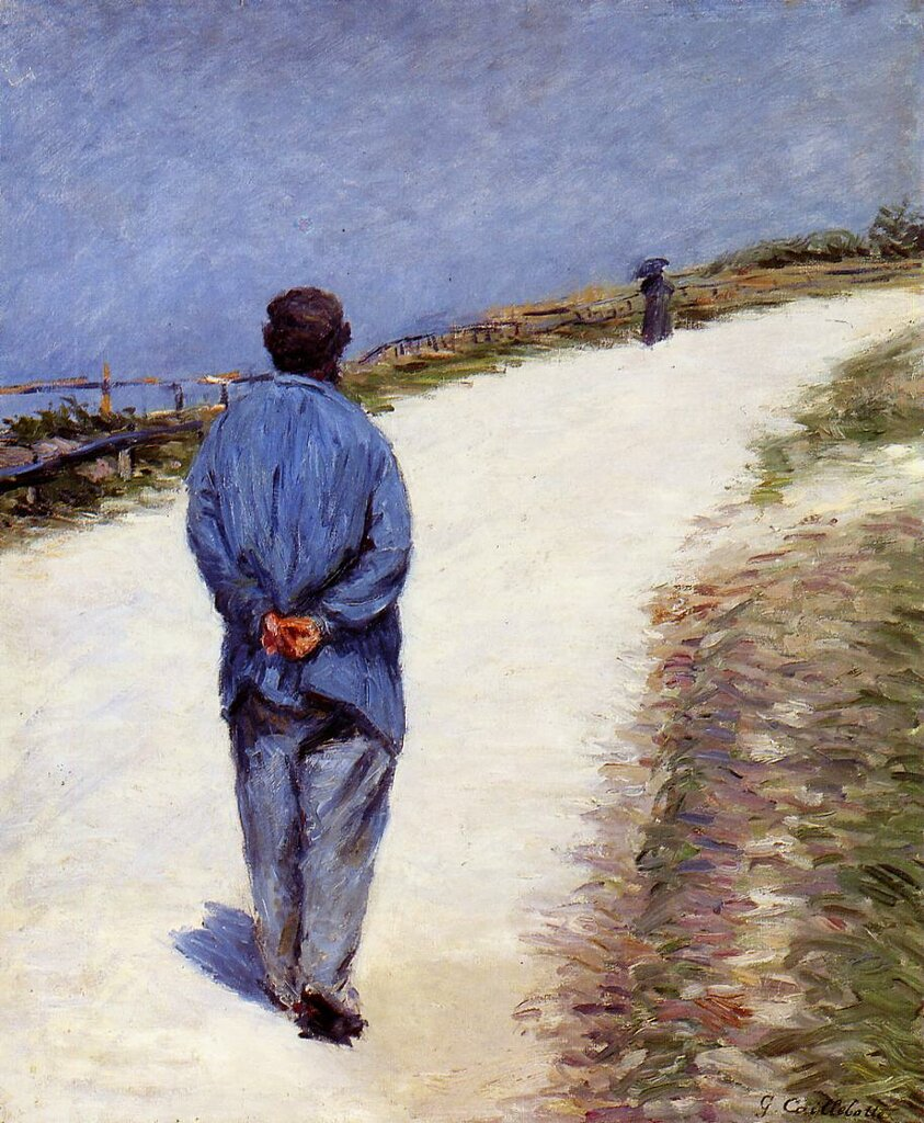 Man in a Smock (also known as Father Magloire on the Road between Saint-Clair and Etretat)  -  1884 - Private collection - Painting - oil on canvas.jpg