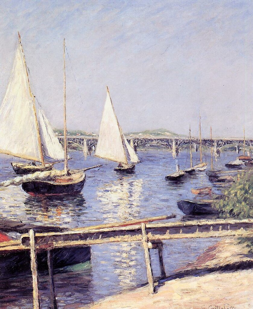 Sailboats in Argenteuil  -  1888 - Musee d'Orsay - Painting - oil on canvas.jpg
