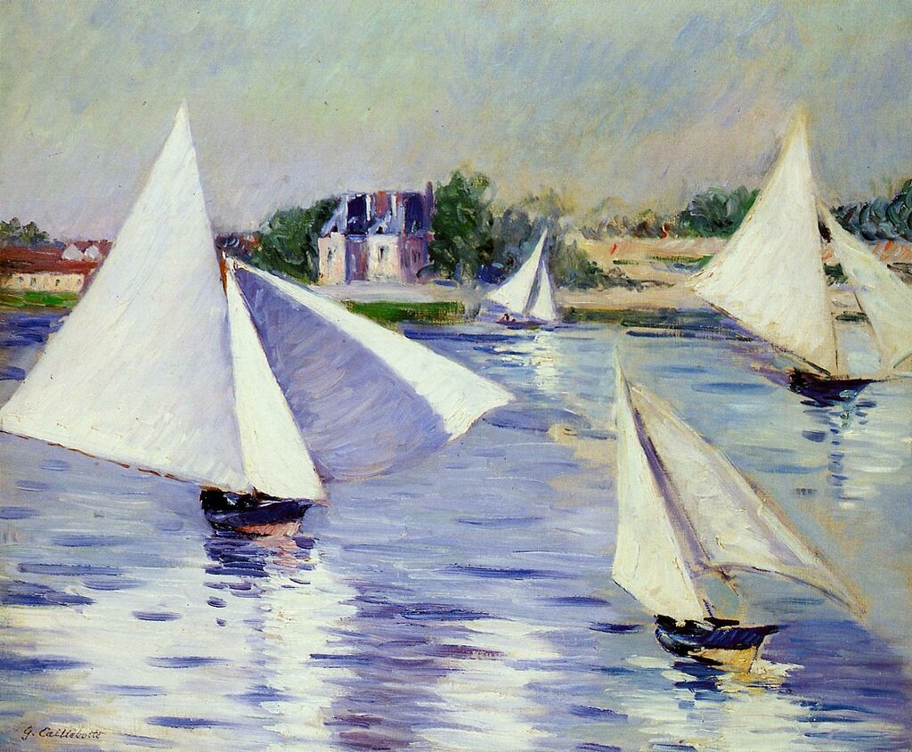 Sailboats on the Seine at Argenteuil  -  1892 - Private collection - Painting - oil on canvas.jpg