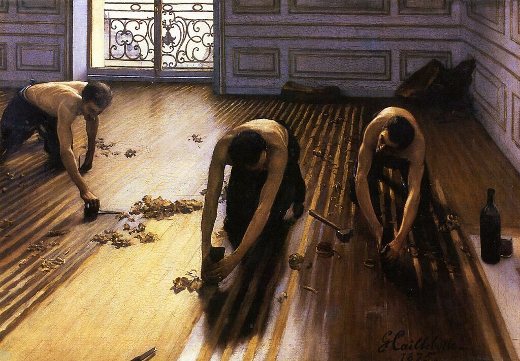 The Floor Scrapers (also known as The Floor Strippers)  -  1875 - Private collection -  Painting - oil on canvas.jpg