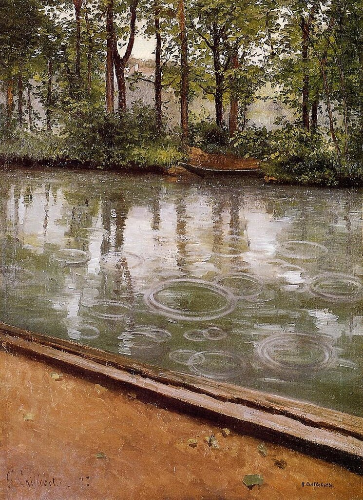 The Yerres, Rain (also known as Riverbank in the Rain)  -  1875 - Indiana University Art Museum - Painting - oil on canvas.jpg