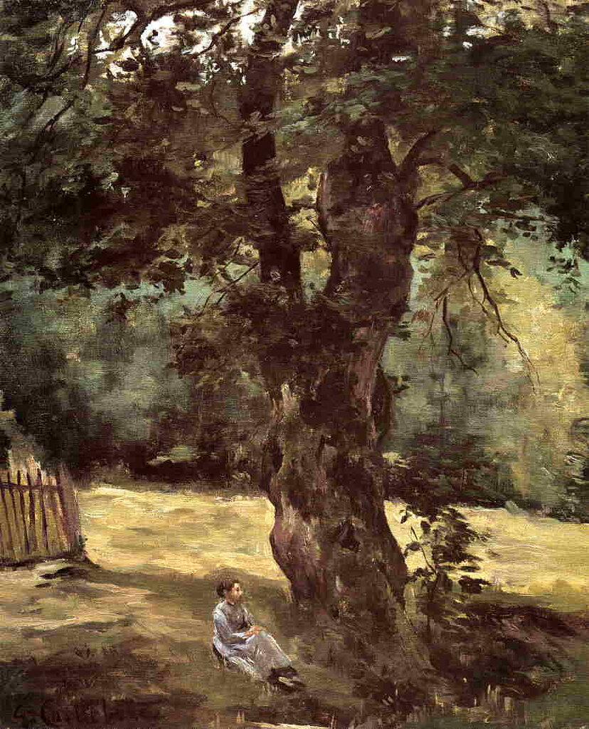 Woman Seated under a Tree  -  1874 - Private collection - Painting - oil on canvas.jpg