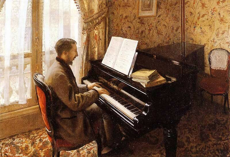 Young Man Playing the Piano  -  1876 - Private collection - Painting - oil on canvas.jpg