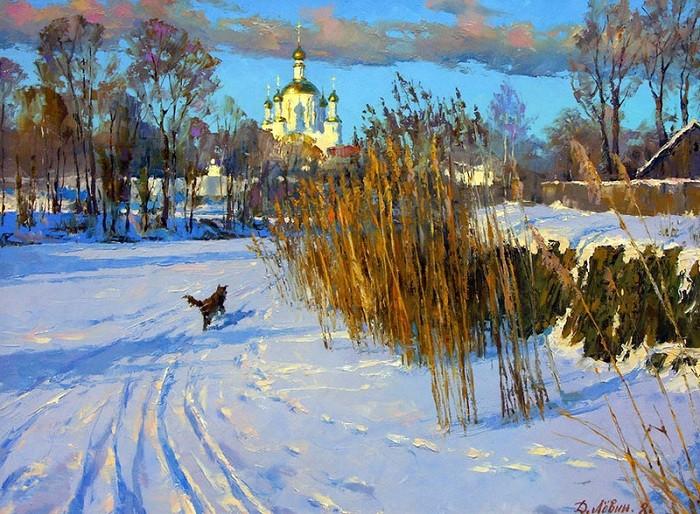 Тихий вечер на Цне.  Автор: Дмитрий Левин.
