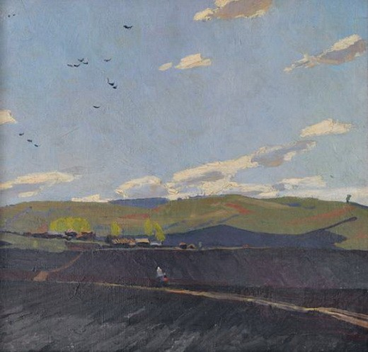 Бурак Александр Филиппович -  На полях Башкирии. 1969 г.