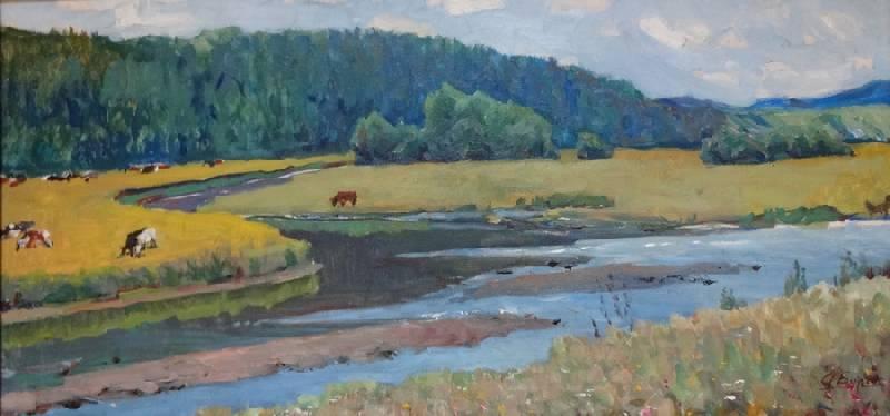 Стадо у реки