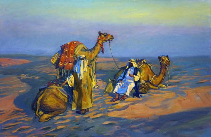 maksim-fayustov__evening-in-the-desert--1-thumb (700x457, 448Kb)