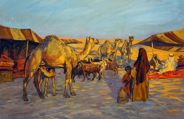 maksim-fayustov__the-bedouin-camp--1-thumb (700x452, 454Kb)