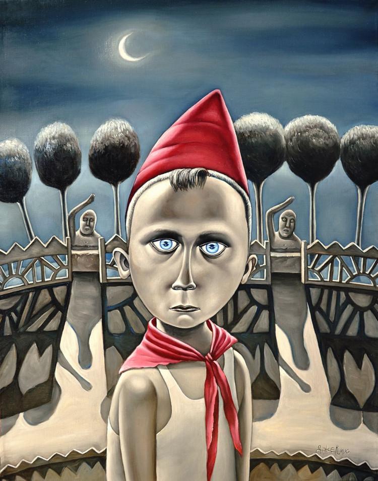 Картины Анжелы Джерих: добрая ирония в советском духе  11