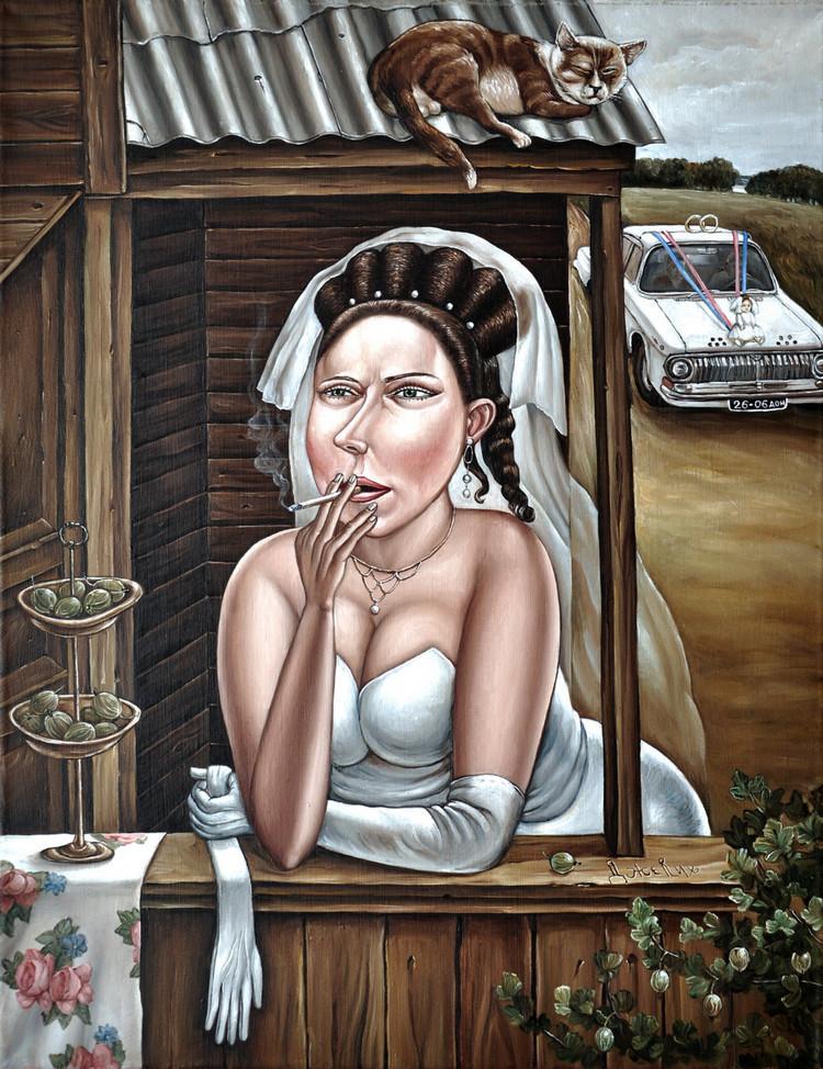 Картины Анжелы Джерих: добрая ирония в советском духе  16