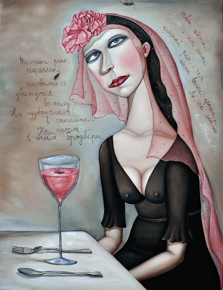 Картины Анжелы Джерих: добрая ирония в советском духе  17