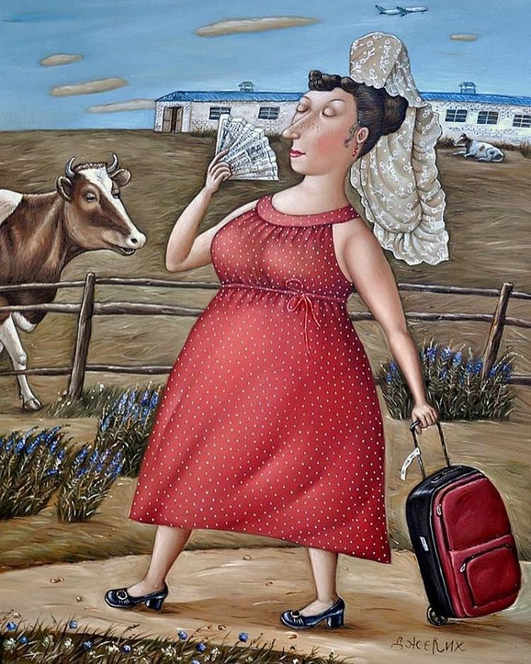 Картины Анжелы Джерих: добрая ирония в советском духе  19 1