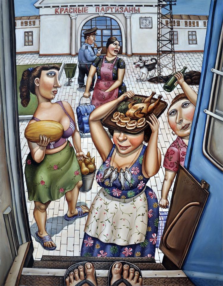 Картины Анжелы Джерих: добрая ирония в советском духе  29