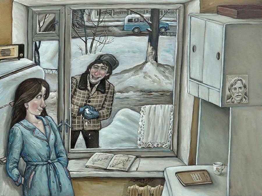 Картины Анжелы Джерих: добрая ирония в советском духе  3