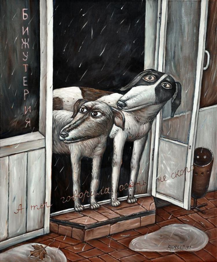 Картины Анжелы Джерих: добрая ирония в советском духе  43