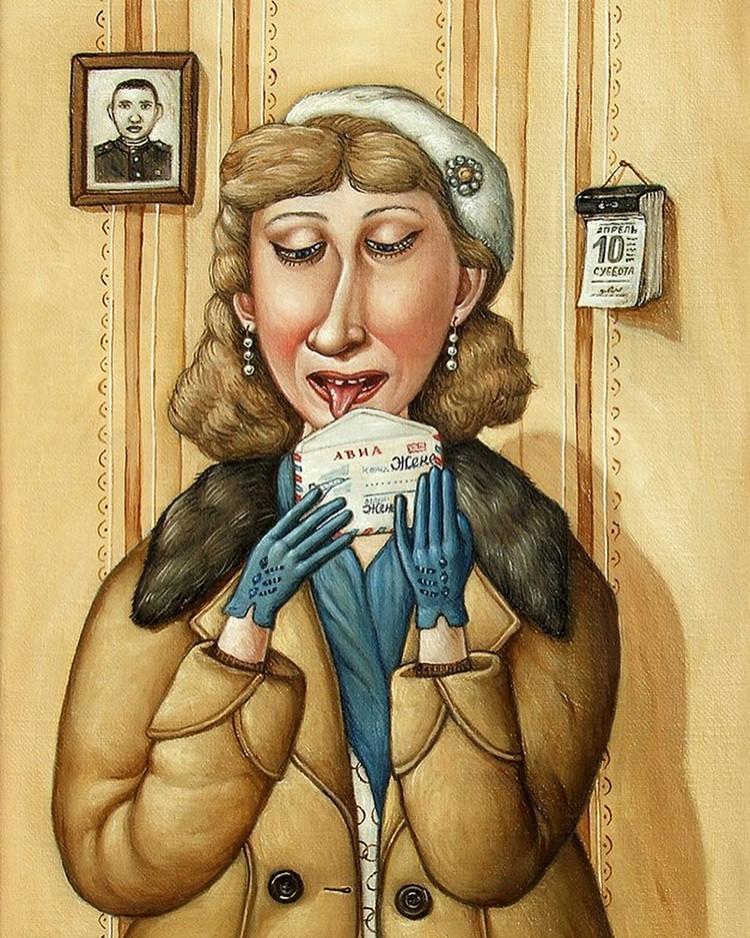 Картины Анжелы Джерих: добрая ирония в советском духе  46