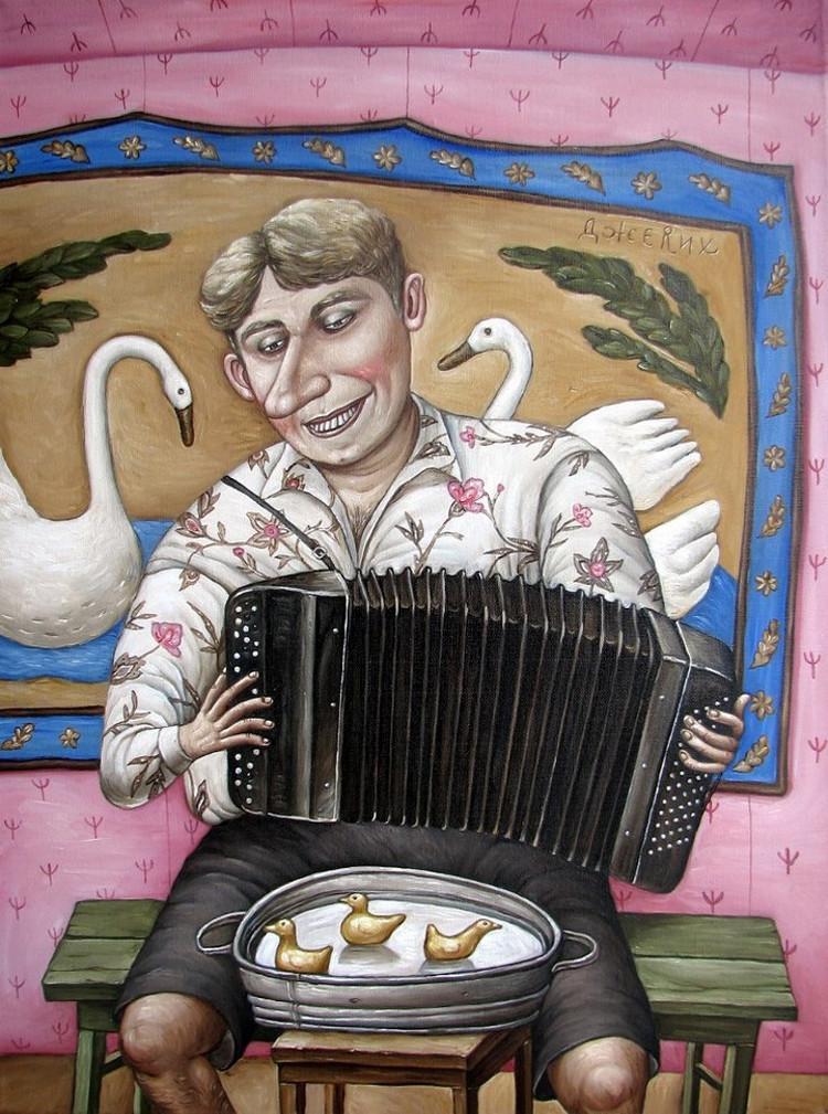 Картины Анжелы Джерих: добрая ирония в советском духе  63
