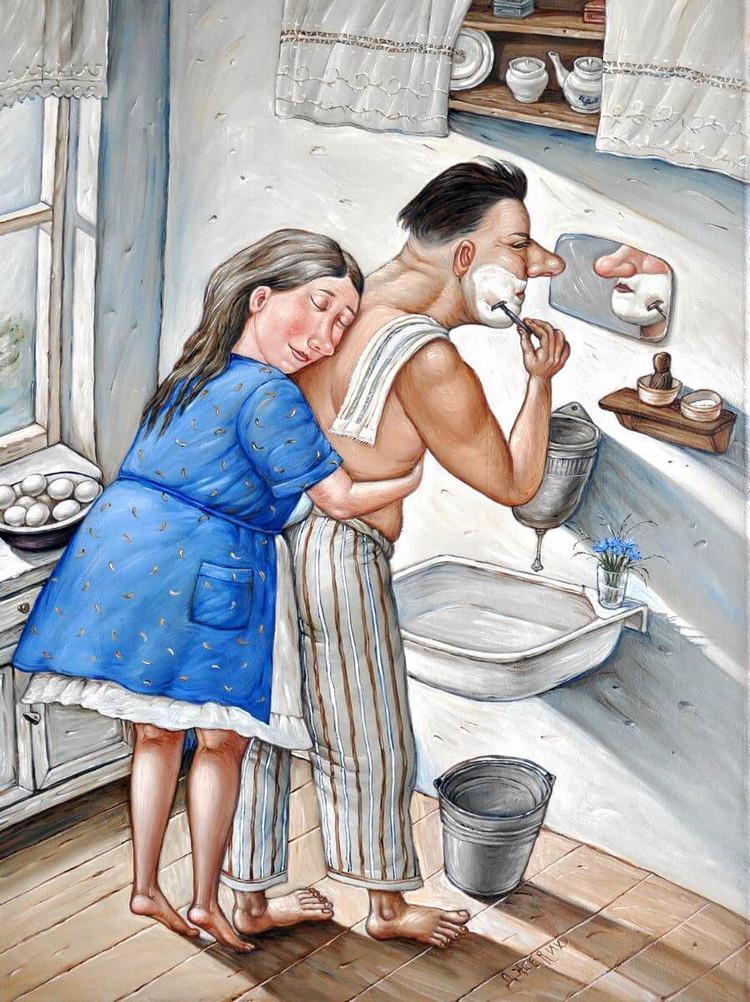 Картины Анжелы Джерих: добрая ирония в советском духе  8