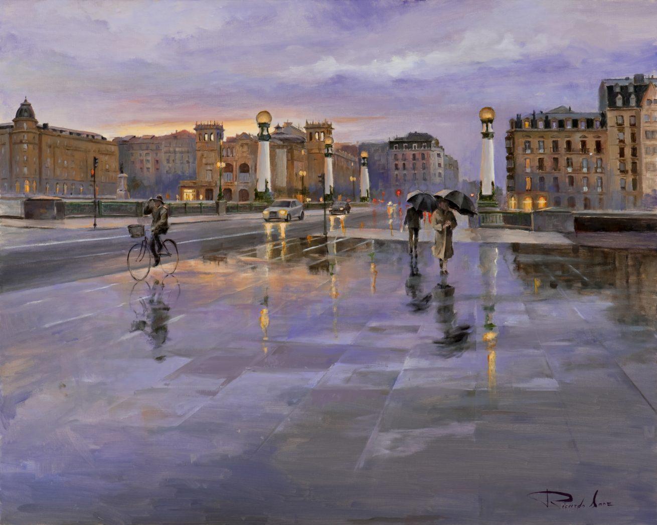 Городские пейзажи испанского художника Ricardo Sanz (Рикардо Санз)