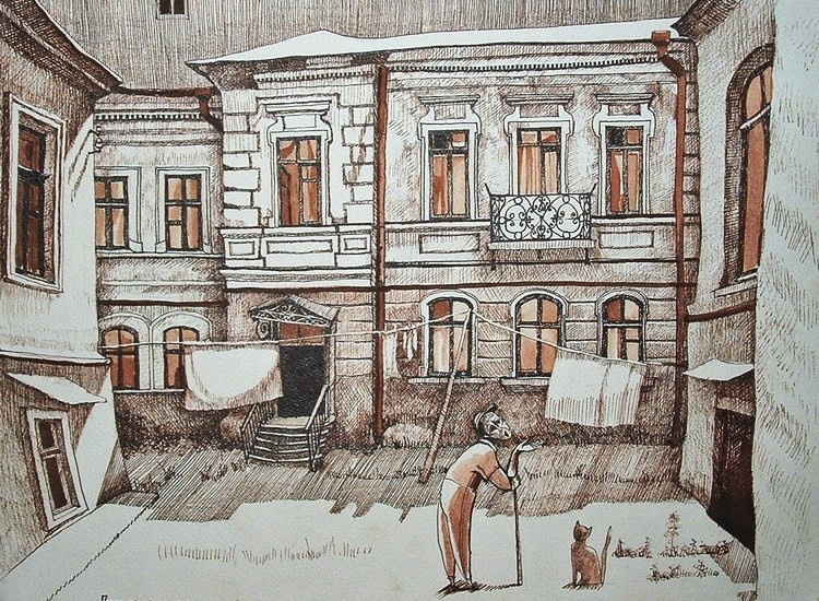 Старая Одесса. Художник Татьяна Поповиченко