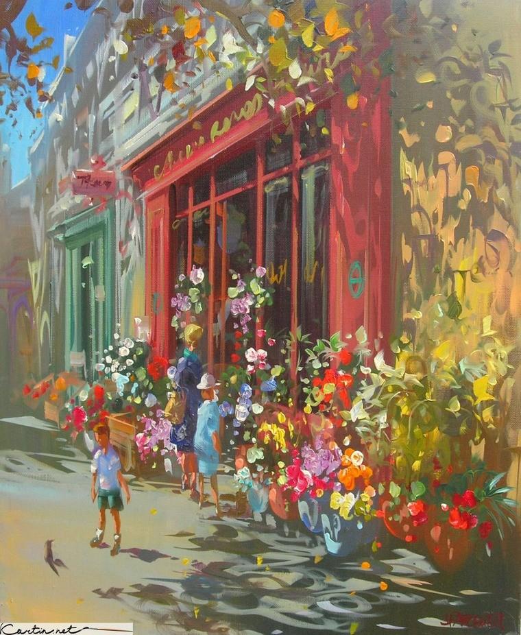 Современный французский импрессионизм прекрасные работы aurent arcelier, фото № 3