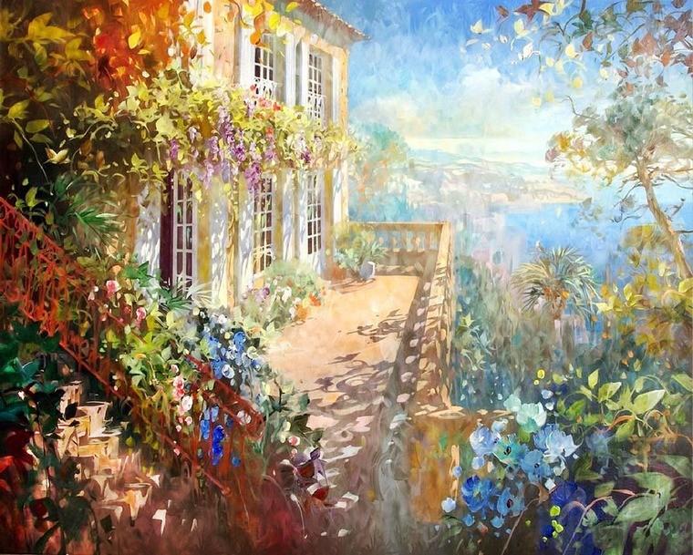 Современный французский импрессионизм прекрасные работы aurent arcelier, фото № 5