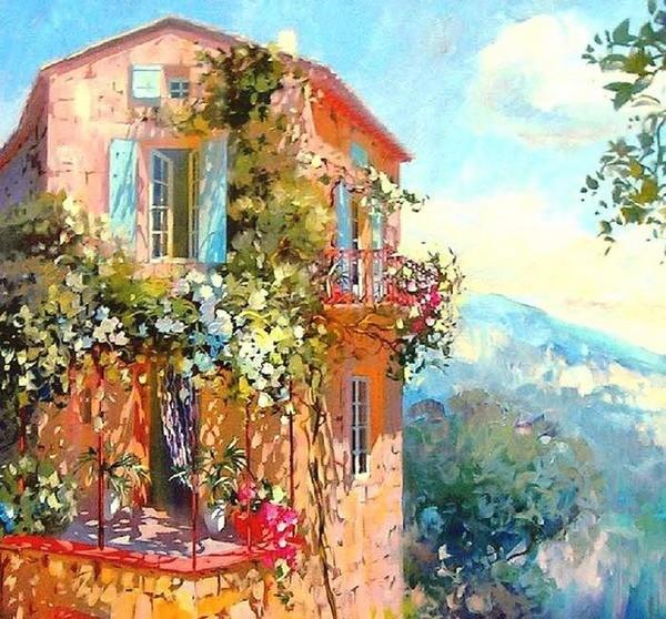 Современный французский импрессионизм прекрасные работы aurent arcelier, фото № 7