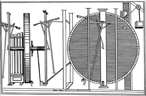 «Самодвижущееся колесо» Орфиреуса, которое чуть не купил Петр I (старинный рисунок)
