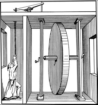 Разоблачение секрета колеса Орфиреуса (старинный рисунок)